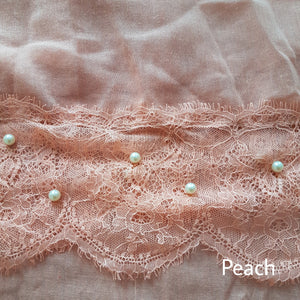 Lace with Pearls Hijab