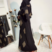 Jaipur Black Open Abaya with Matching Hijab