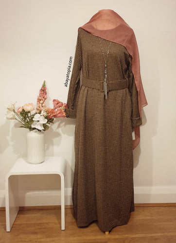 Warm Marl Dress with Belt & Pockets - Diff Colours