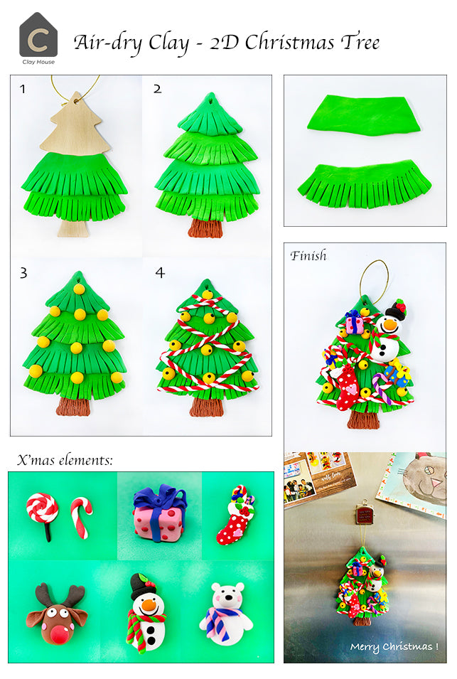 Christmas Projects with Air Dry Clay: Christmas Tree Ornament