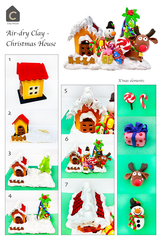 Christmas Projects with Air Dry Clay: Christmas House