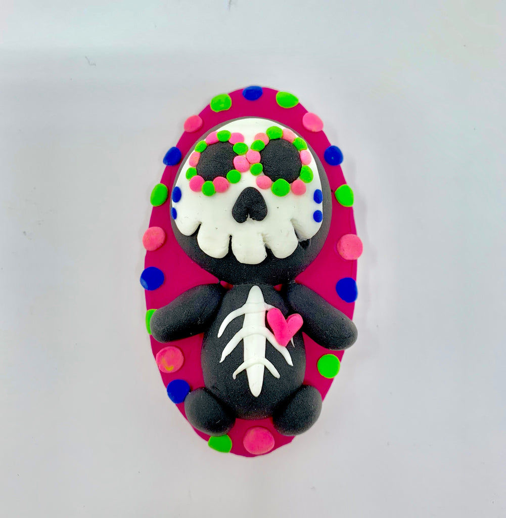 Make a Colorful Skeleton with Air Dry Clay