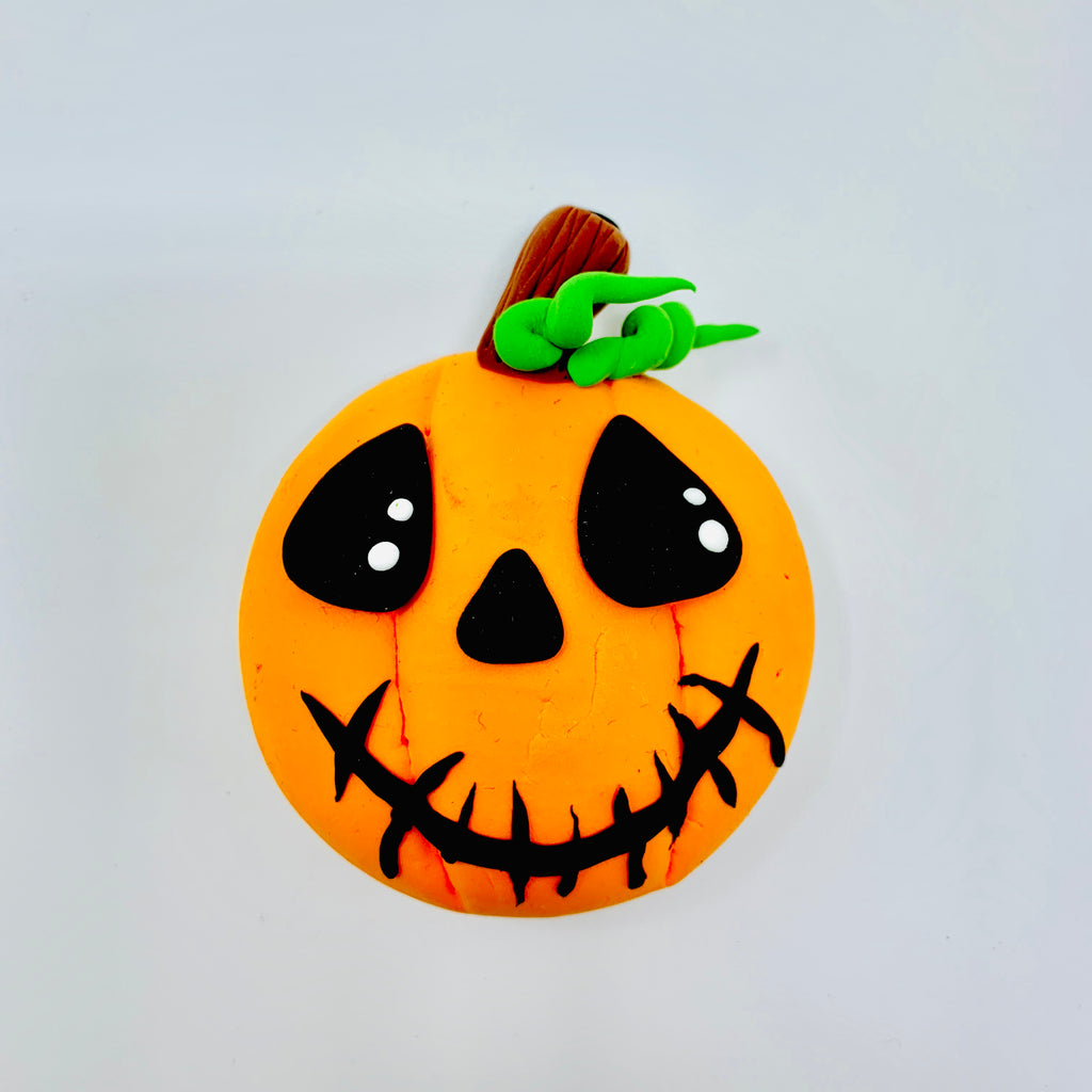 Make a Jack O Lantern with Air Dry Clay