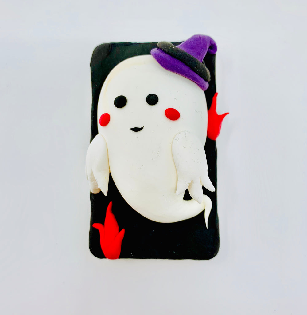Make a Cute Ghost with Air Dry Clay