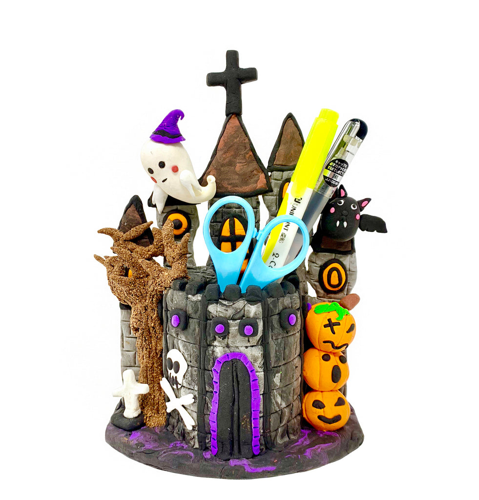 Make a Haunted Castle with Air Dry Clay