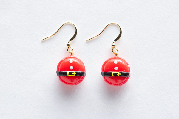 Christmas Macaroon Hook Earrings