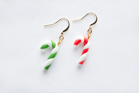 Candy Cane Hook Earrings