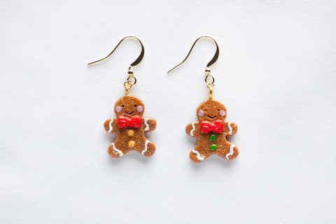 Gingerbread Man Hook Earrings