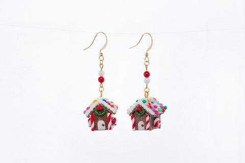 Gingerbread House Dangle Earrings