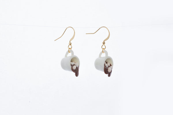 Spilled Hot Coco Hook Earrings
