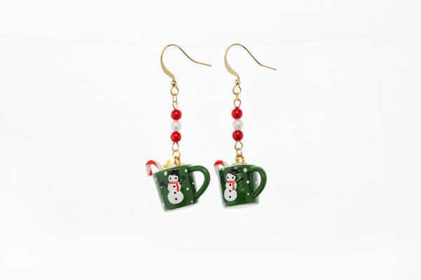 Christmas Coco Mug Hook Earrings