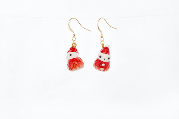 Strawberry Snowman Hook Earrings