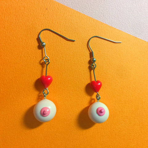 Boho Boob Air Dry Clay Earrings