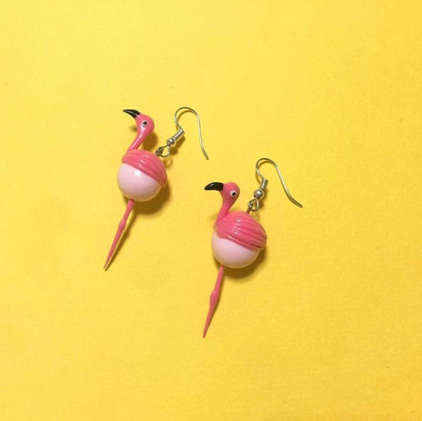 Flamingo Clay Earrings
