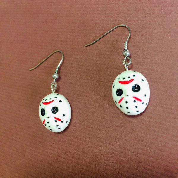 Jason's Mask Air Dry Clay Clay Earrings