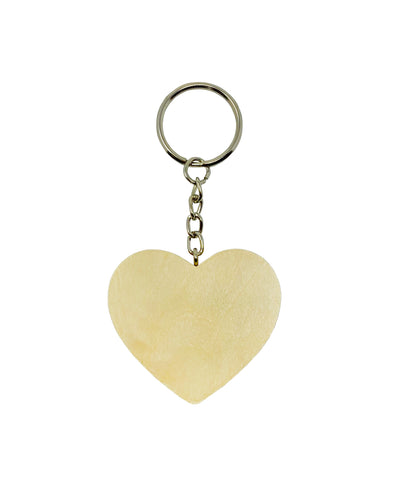 Heart Shaped Wood Keychain Pack of 10