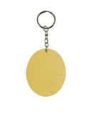 Oval Shaped Wood Keychain Pack of 10