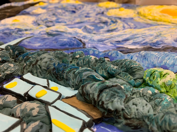 [August 16 - 20] 『Classic Artwork with Air-Dry Clay Van Gogh: Starry Night  』 (Onsite+Online - 1 week)