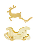 Flying Reindeer with Sleigh