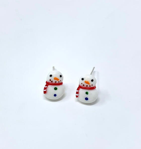 Snowman Stud Earrings