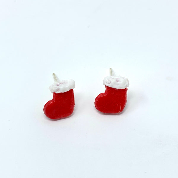Christmas Stocking Stud Earrings