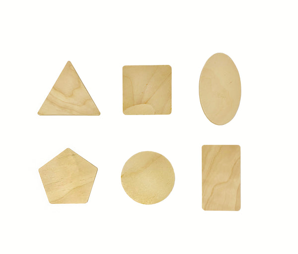 Geometric Shape Wood Boards Pack of Twelve