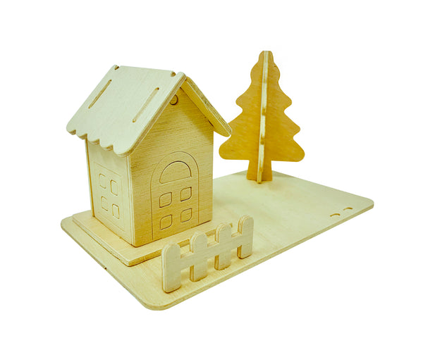 Christmas Tree and Cabin Pack of 5