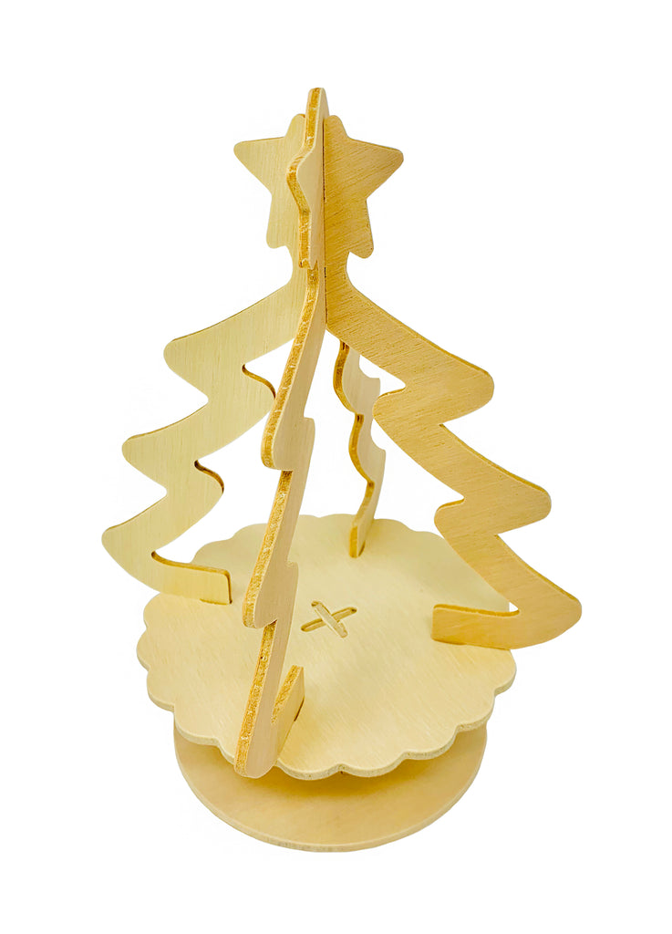 Christmas Tree With Star Topper Clay House Art