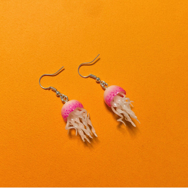 Jellyfish Clay Earrings