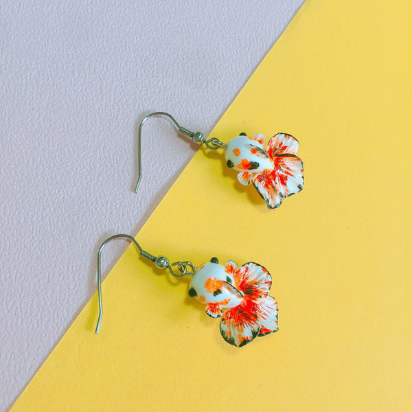 Koi Fish Clay Earrings