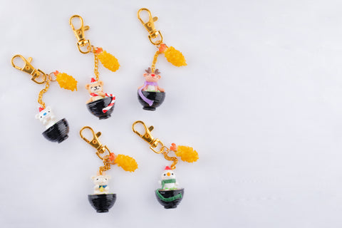Animal Ramen Keychain