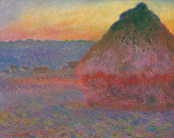 Online Half-Day Summer Camp PM: July 13 - 17 Classic Artwork with Air-Dry Clay - Grainstack (Claude Monet)