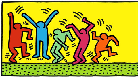 Online Half-Day Summer Camp AM: July 20 - 24 Classic Artwork with Air-Dry Clay - Figure Dancing (Keith Haring))