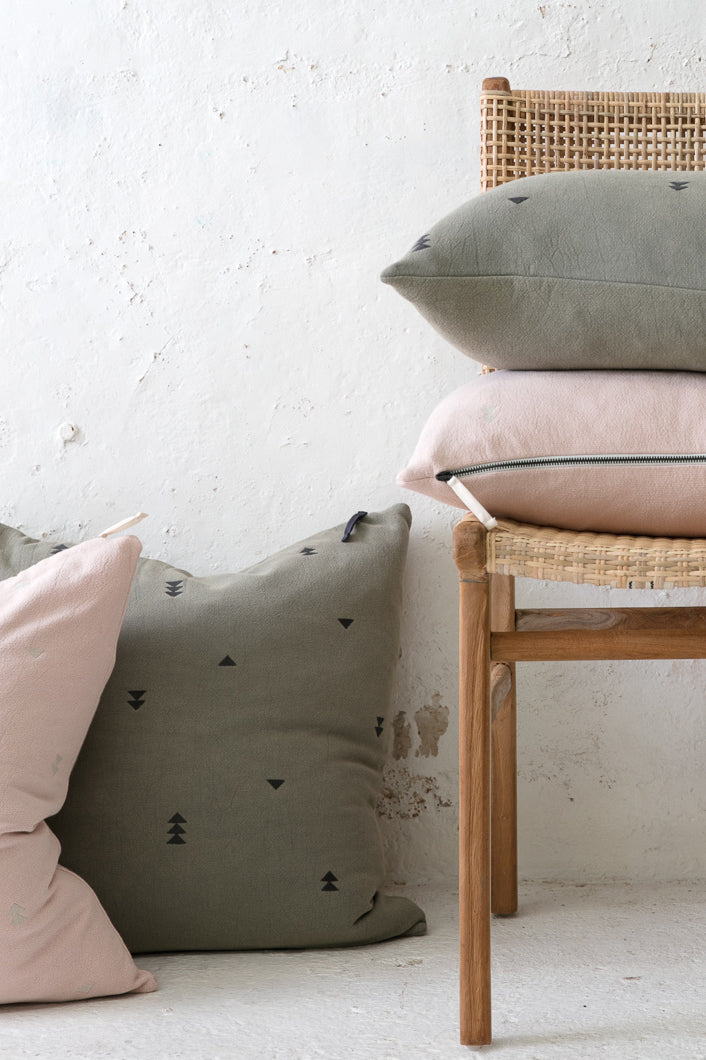vintage wash cushion cover charcoal 60 x 40cm