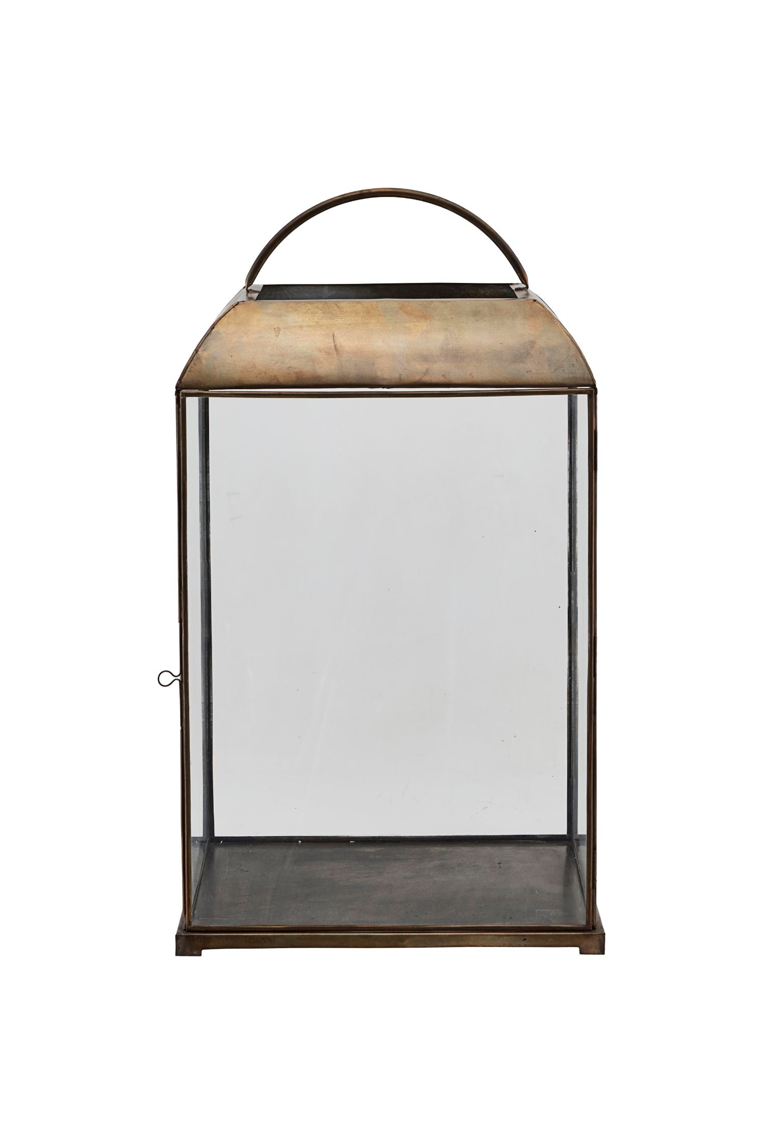 mandurai lantern antique brass tall