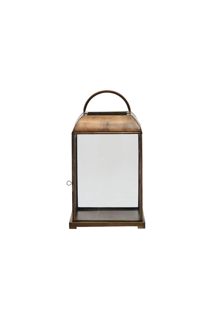 mandurai lantern antique brass low