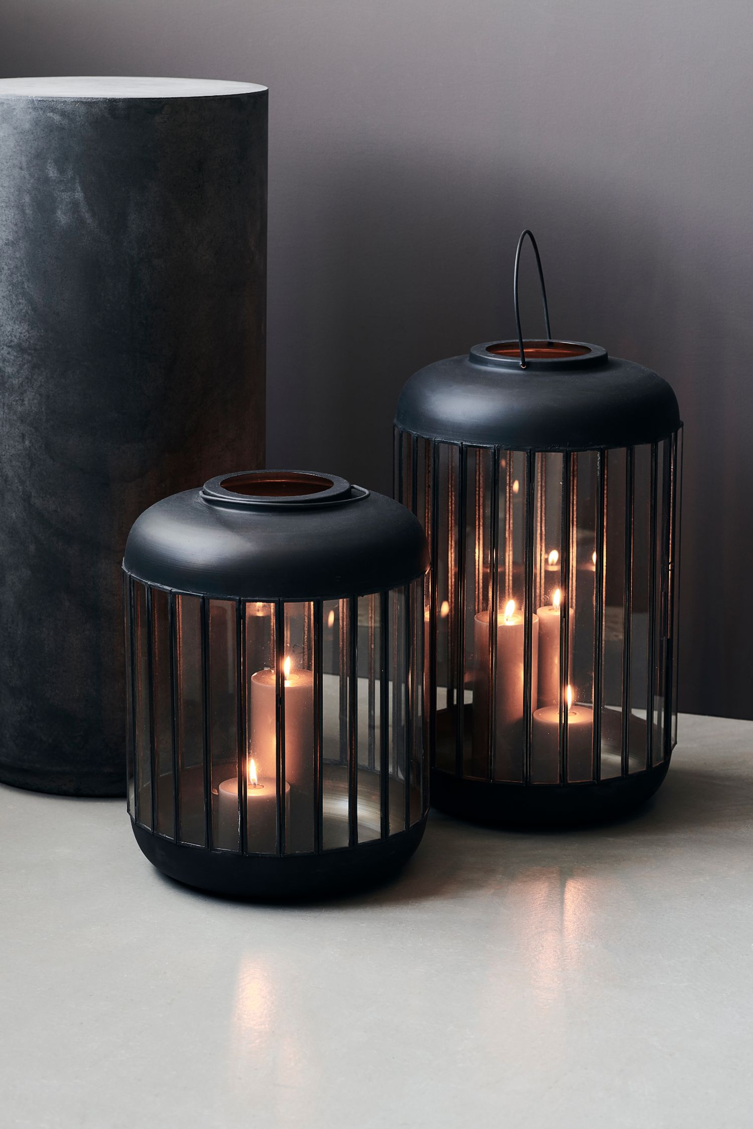 pamal lantern antique black 52cm