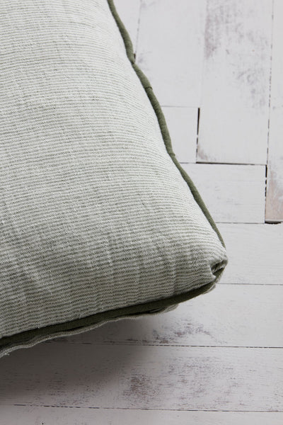 kanpur cushion cover seafoam