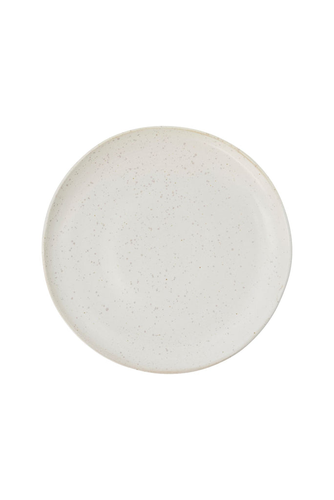 pion side plate off white speckle