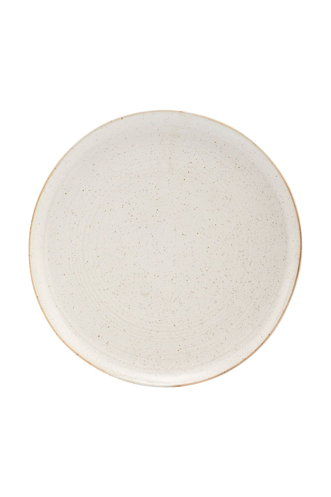 pion dinner plate off white speckle