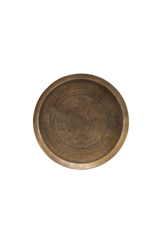 jhansi tray antique brass 29cm