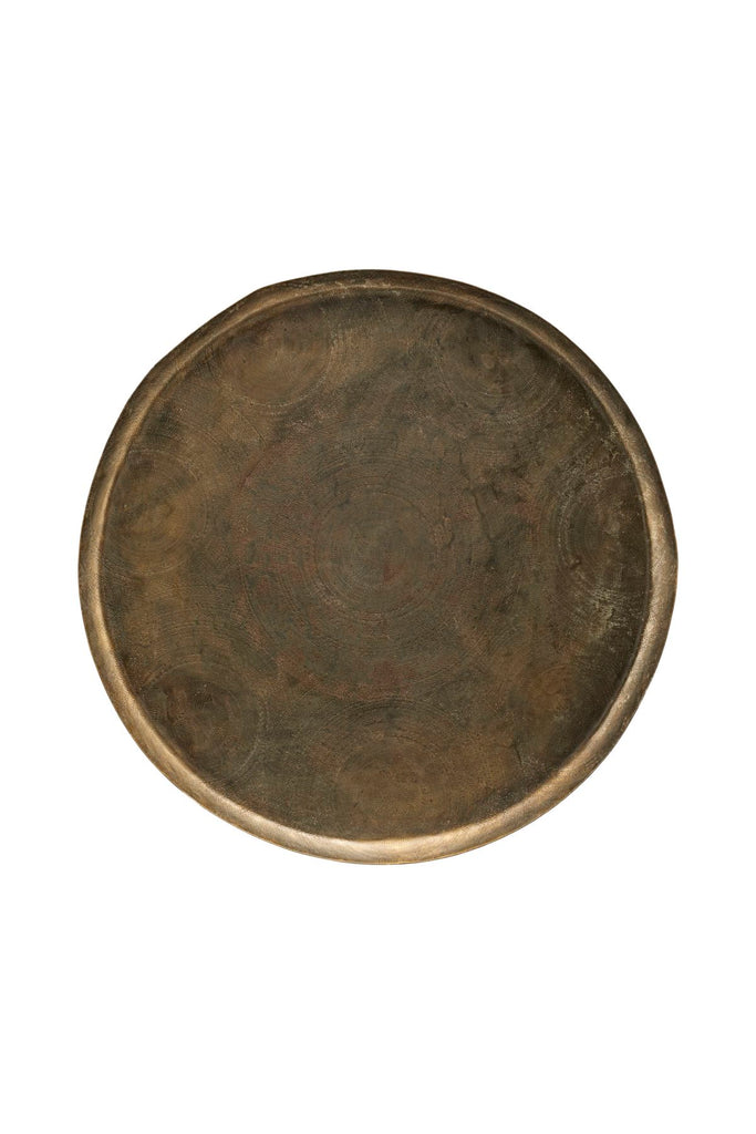 jhansi tray antique brass