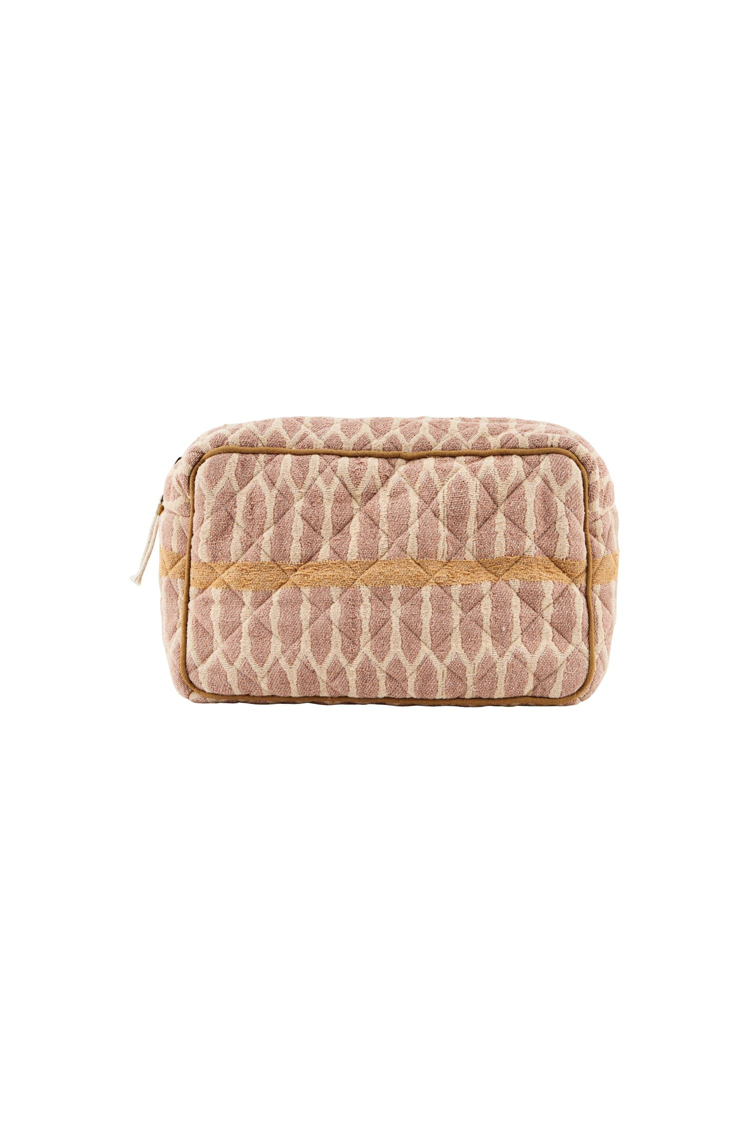 makeup bag mustard/terracotta