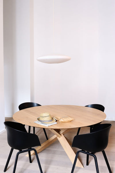 circle table french oak  1.3m dia
