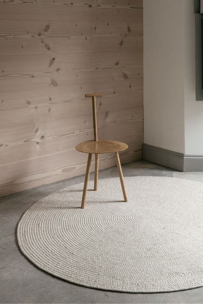 braid wool rug chalk