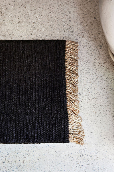 sahara weave entrance mat charcoal
