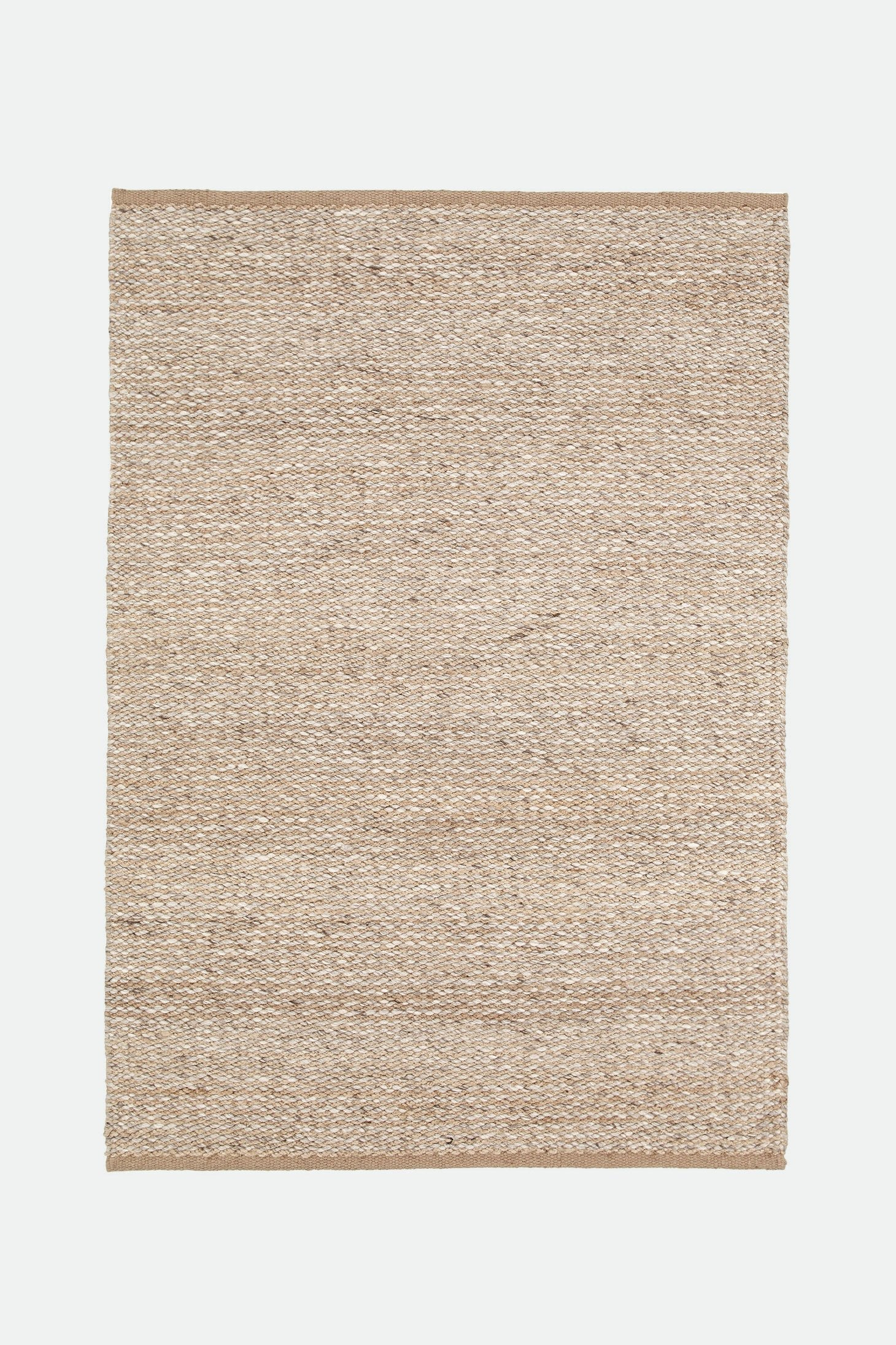 desert weave rug wool+hemp natural/pumice