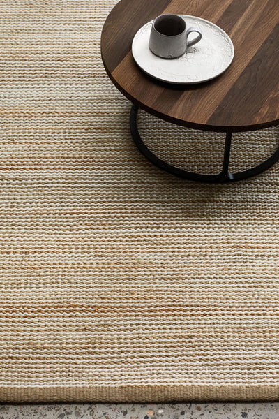 drift weave rug natural/white