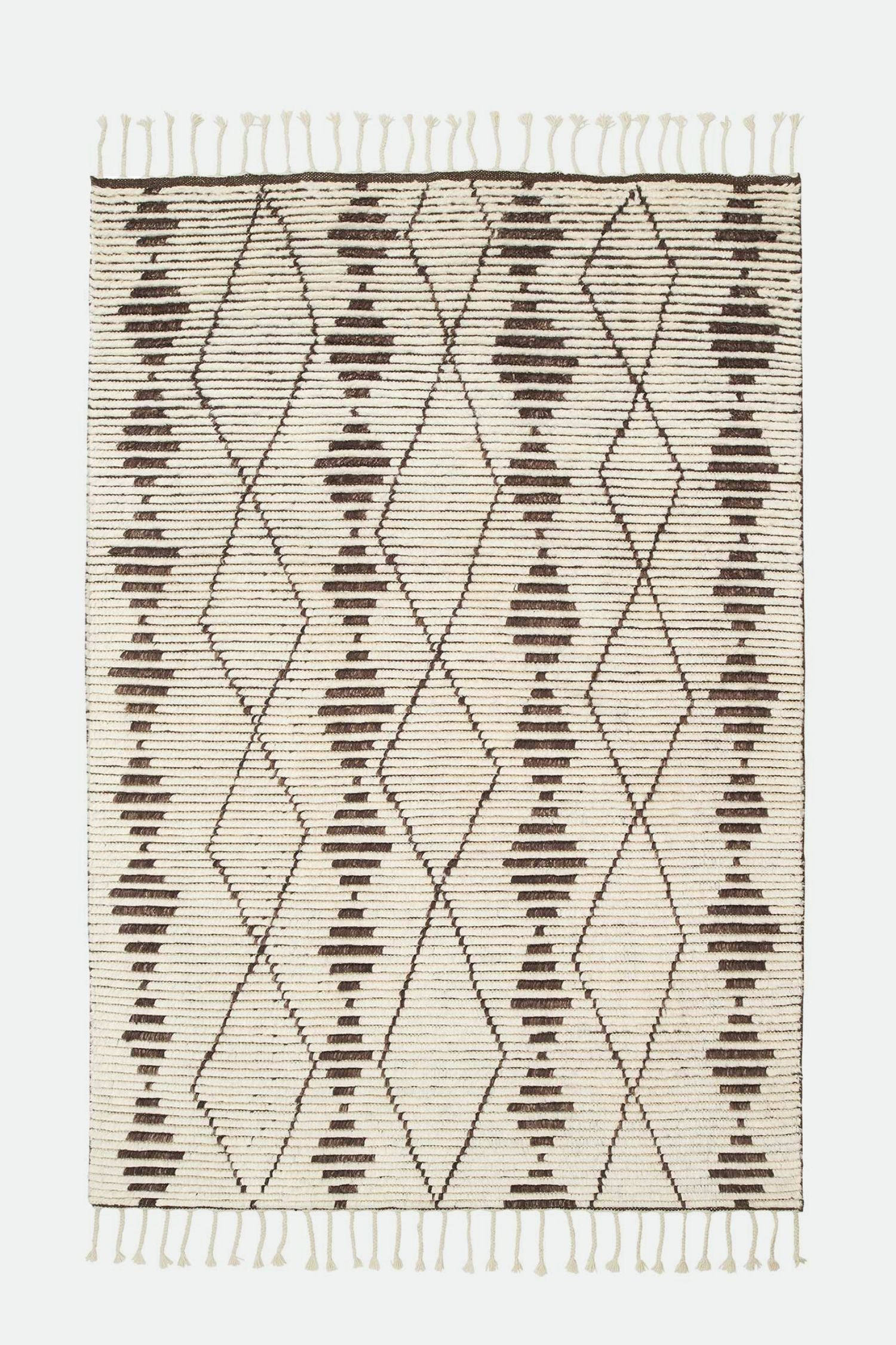 zulu rug natural/walnut