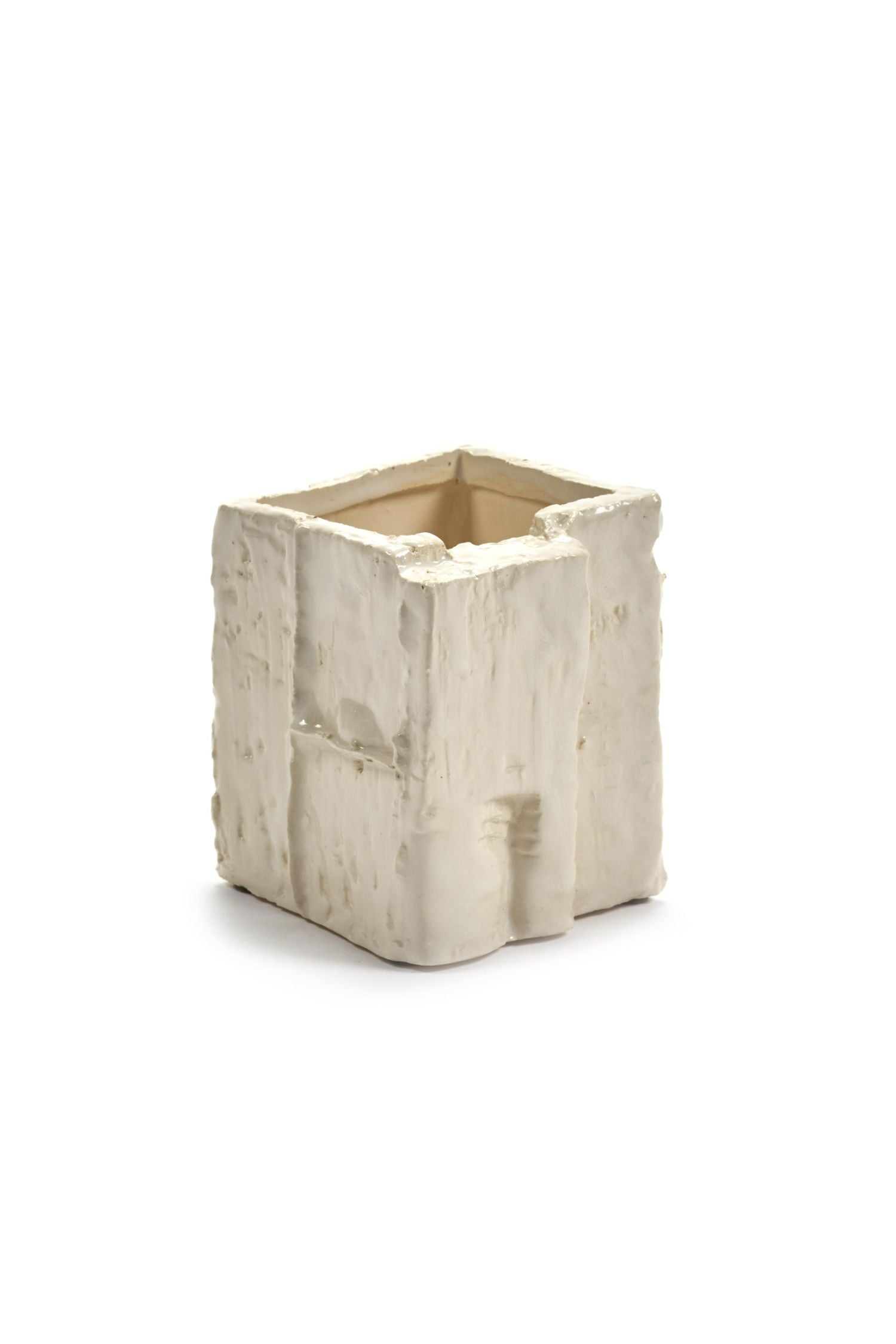 eucalyptus vase small square open